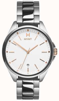 MVMT | женская коронада | браслет из нержавеющей стали | белый циферблат 28000001-D