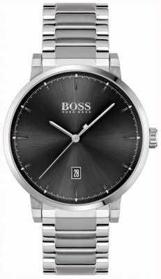 BOSS | мужская уверенность | браслет из нержавеющей стали | черный циферблат 1513792