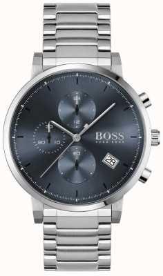BOSS | мужская честность | браслет из нержавеющей стали | синий циферблат 1513779