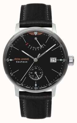 Iron Annie Баухауз | автоматический | черный кожаный ремешок | черный циферблат 5060-2
