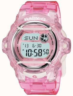 Casio Цифровой дисплей baby g с розовым ремешком BG-169R-4ER