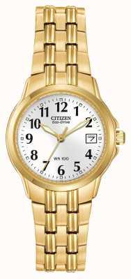 Citizen Позолоченный золотой браслет с золотым покрытием EW1542-59A