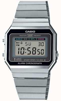 Casio Винтаж | серебряный браслет | цифровой циферблат | A700WE-1AEF