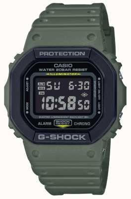 Casio G-шок | зеленый резиновый ремешок | цифровой дисплей DW-5610SU-3ER