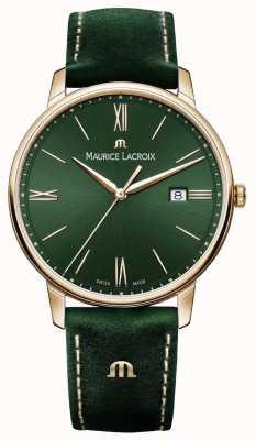 Maurice Lacroix Elrios копченый зеленый кожаный ремешок позолоченный корпус EL1118-PVP01-610-1