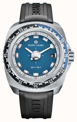 Favre Leuba Рейдер темно-синий 41 | черный резиновый ремешок | синий циферблат | 00.10106.08.52.31