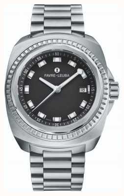 Favre Leuba Рейдер морской король | браслет из нержавеющей стали | черный циферблат | 00.10107.08.11.20