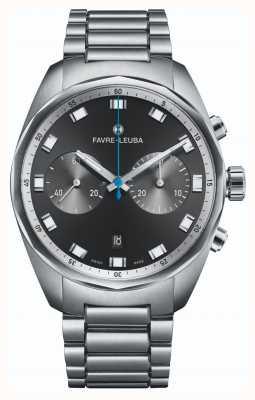 Favre Leuba Хронограф Sky Chief | браслет из нержавеющей стали | черный циферблат 00.10202.08.11.20