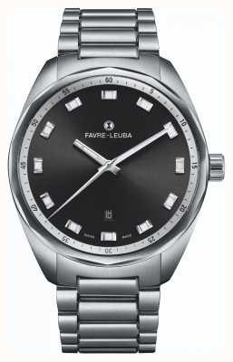 Favre Leuba Небесная главная дата | браслет из нержавеющей стали | черный циферблат 00.10201.08.11.20