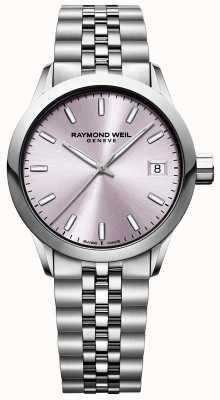 Raymond Weil Женский фрилансер | браслет из нержавеющей стали | розовый циферблат 5634-ST-80021