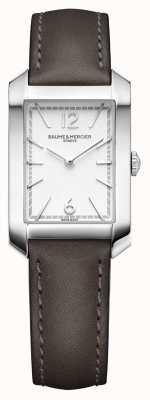 Baume & Mercier Леди хэмптон | циферблат из опалового серебра | ремешок из кожи солодки M0A10471