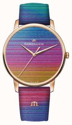 Maurice Lacroix Элирос радуга ограниченным тиражом | радуга кожаный ремешок EL1118-PVP01-090-1