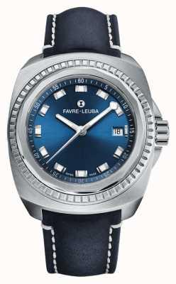 Favre Leuba Рейдер морской король | синий циферблат | синяя кожа антилопы 00.10107.08.51.46