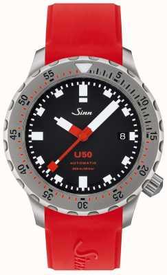 Sinn U50 | красные силиконовые часы для дайверов 1050.010 RED STRAP