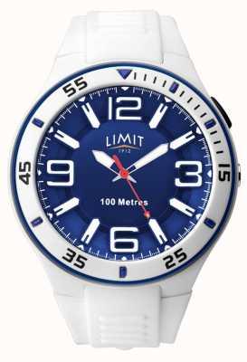 Limit Унисекс | белый резиновый ремешок | синий циферблат 5763.65