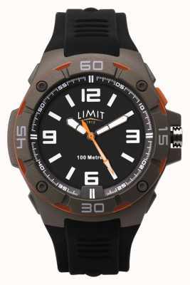 Limit Мужской черный резиновый ремешок | черный циферблат 5788.65