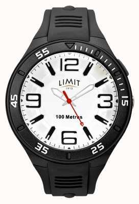 Limit Мужской черный резиновый ремешок | белый циферблат 5796.65
