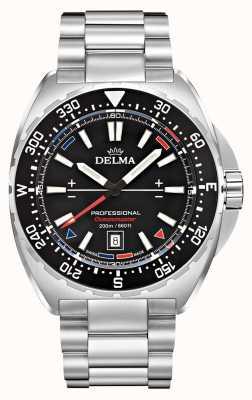 Delma Oceanmaster кварц | браслет из нержавеющей стали | черный циферблат 41701.676.6.038