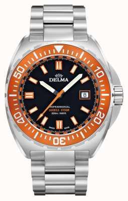 Delma Shell звездный кварц | браслет из нержавеющей стали | оранжевый ободок 41701.676.6.151