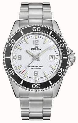 Delma Сантьяго кварц   браслет из нержавеющей стали   белый циферблат 41701.562.6.014
