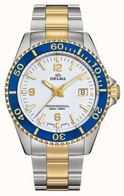 Delma Сантьяго кварц | двухцветный стальной браслет | белый циферблат 52701.562.6.014