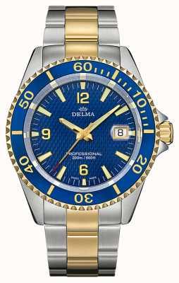 Delma Сантьяго кварц | двухцветный стальной браслет | синий безель 52701.562.6.044