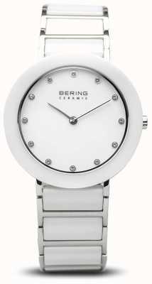 Bering Женская керамика | белый керамический браслет | белый циферблат 11434-754