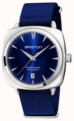 Briston Clubmaster знаковых авто | синий нато ремешок | синий циферблат 19640.PS.I.9.NNB