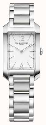Baume & Mercier Прямоугольник Хэмптона | женские | нержавеющая сталь | серебряный циферблат M0A10473