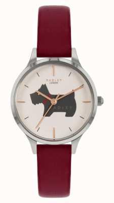 Radley Меридан плейс | красный кожаный ремешок | циферблат с мотивом собаки RY2973