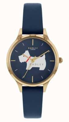 Radley Меридан плейс | синий кожаный ремешок | циферблат с мотивом собаки RY2974