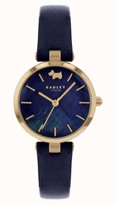 Radley Западный вид | кожаный ремешок темно-синего цвета | темно-синий циферблат RY2972