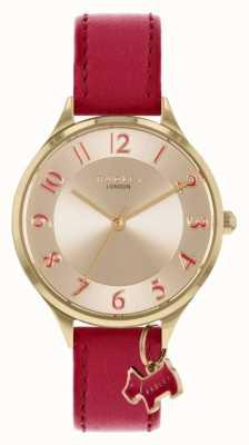 Radley Саксонская дорога | красный кожаный ремешок | серебряный циферблат RY2968