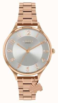 Radley Саксонская дорога | браслет из розового золота из стали | серебряный циферблат RY4506