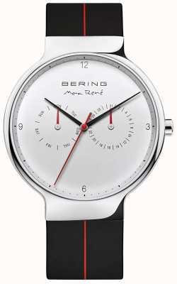 Bering Макс рене | черный резиновый ремешок | серебряный циферблат 15542-404