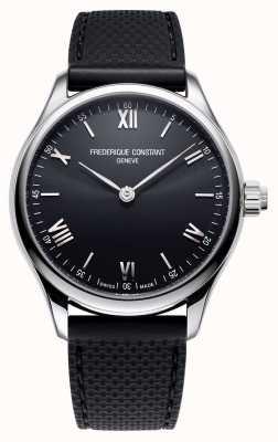 Frederique Constant Мужские | жизнеспособность | умные часы | черный циферблат | черная резина FC-287B5B6