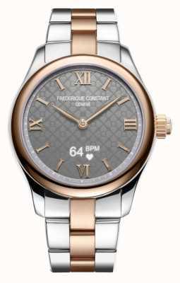 Frederique Constant Женские | жизнеспособность | умные часы | серый циферблат | две тонны FC-286BG3B2B