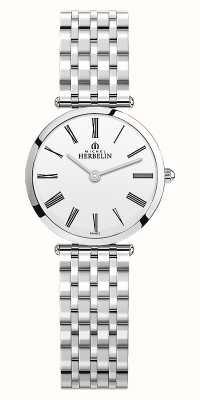 Michel Herbelin | женские | эпсилон | браслет из нержавеющей стали | белый циферблат | 17116/B01N