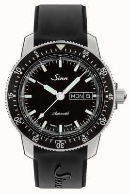 Sinn 104 sa sa классические пилотные часы черный резиновый ремешок 104.010 BLACK RUBBER