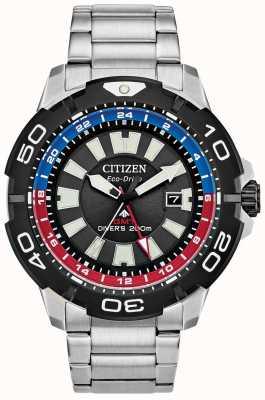 Citizen Promaster Diver GMT | браслет из нержавеющей стали | черный циферблат BJ7128-59E