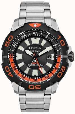 Citizen Promaster Diver GMT | браслет из нержавеющей стали | черный циферблат BJ7129-56E