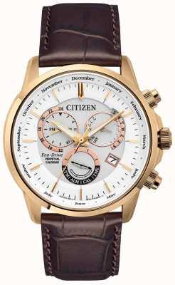 Citizen Калибр 8700 вечных календарных часов | коричневый кожаный ремешок BL8153-11A