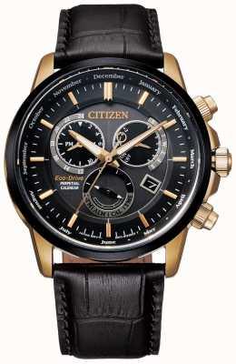 Citizen Калибр 8700 вечных календарных часов | темно-коричневая кожа BL8156-12E