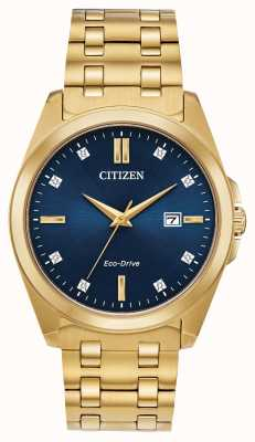 Citizen Corso Eco-Drive PvD позолоченные часы BM7103-51L