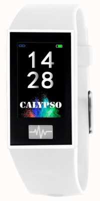 Calypso Унисекс | умный | белый силиконовый ремешок + бесплатный ремешок K8500/1