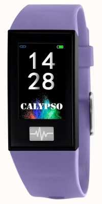 Calypso Унисекс | умный | фиолетовый силиконовый ремешок + бесплатный ремешок K8500/2