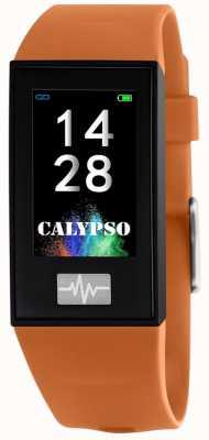 Calypso Унисекс | умный | оранжевый силиконовый ремешок + бесплатный ремешок K8500/3