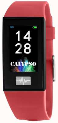 Calypso Унисекс | умный | красный силиконовый ремешок + бесплатный ремешок K8500/4