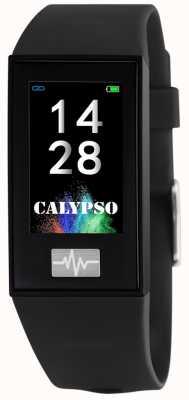 Calypso Унисекс | умный | черный силиконовый ремешок + бесплатный ремешок K8500/6