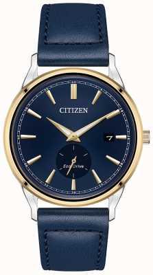 Citizen Эко-драйв синий кожаный синий циферблат часы BV1114-18L